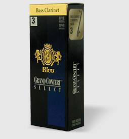 Rico Grand Concert Select Bass Clarinet Reeds (Box of 5)
