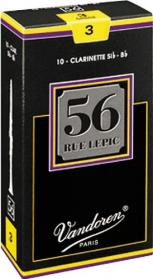 Vandoren Clarinet 56 Rue Lepic Reeds (Box of 10)
