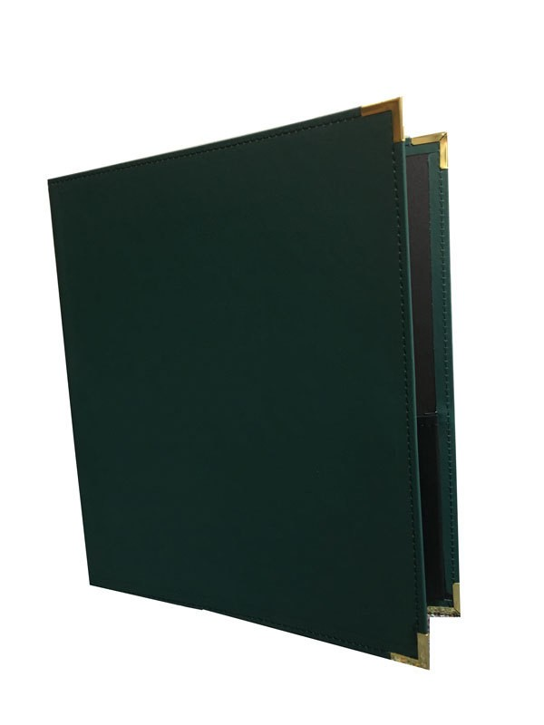 BAND FOLDER 12X14 GREEN WITH PENCIL LOOP