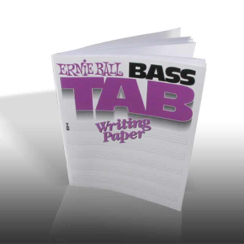 BASS TAB WRITING PAPER BOOK