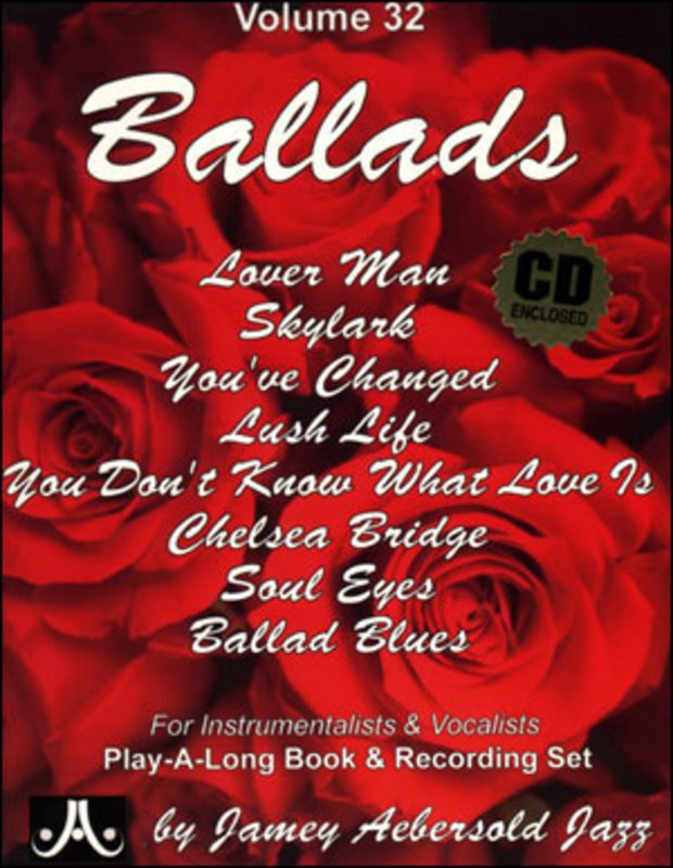 BALLADS PLAY A LONG BK/CD NO 32