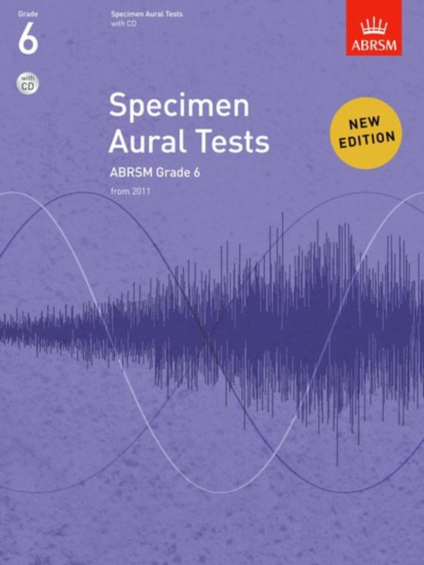 A B SPECIMEN AURAL TESTS GR 6 BK/CD FROM 2011