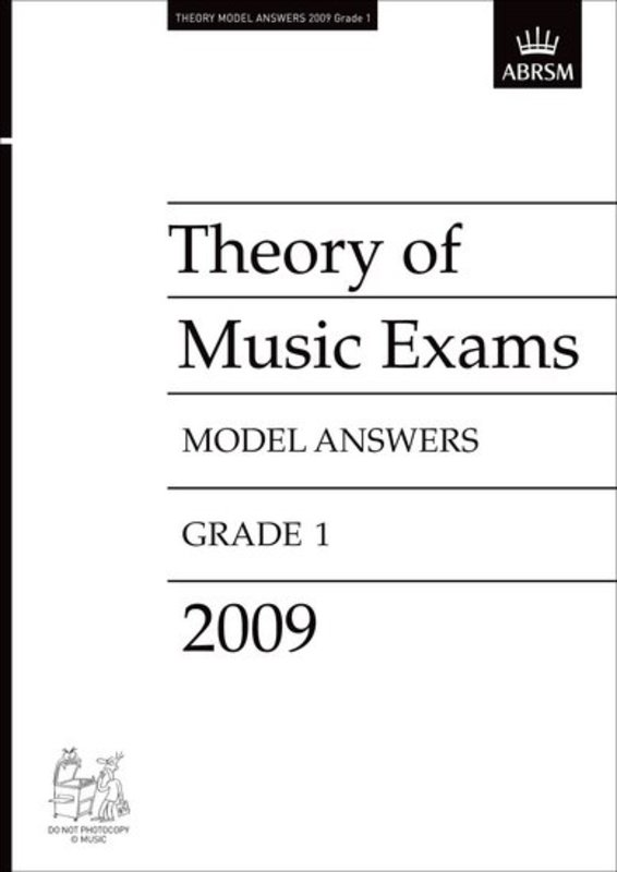 A B THEORY OF MUSIC ANSWERS GR 1 2009