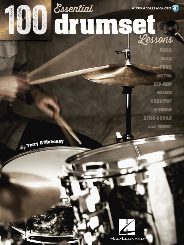 100 ESSENTIAL DRUMSET LESSONS BK/CD
