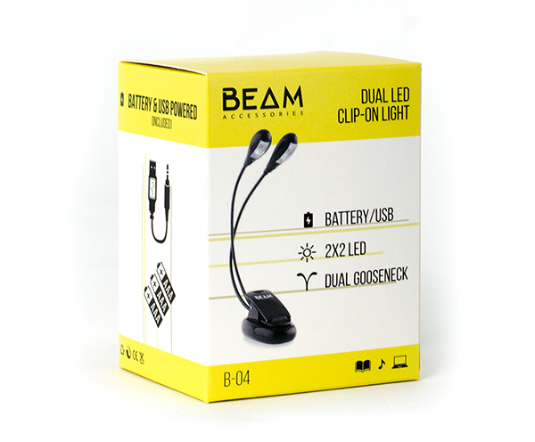 Beam Dual LED Clip-On Music Stand Light