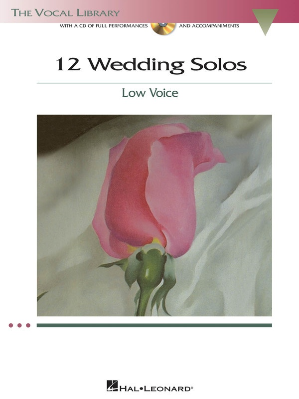 12 Wedding Solos Low Voice Bk/cd
