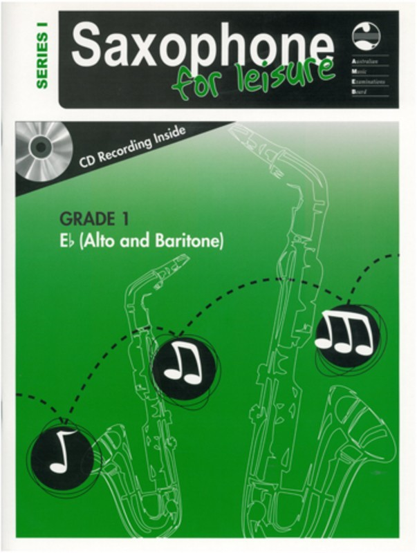 AMEB SAXOPHONE FOR LEISURE GRADE 1 E FLAT BK/CD SER 1