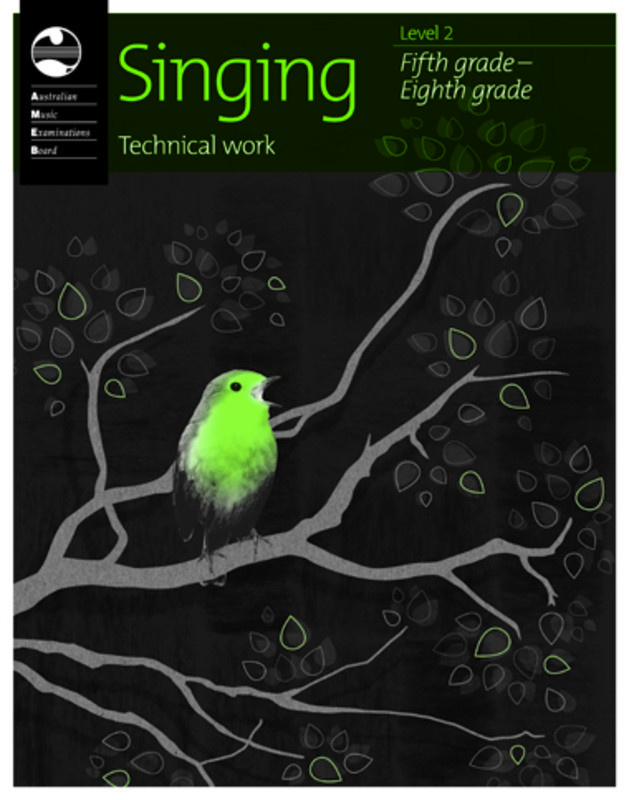 AMEB SINGING TECHNICAL WORK LEVEL 2 2010