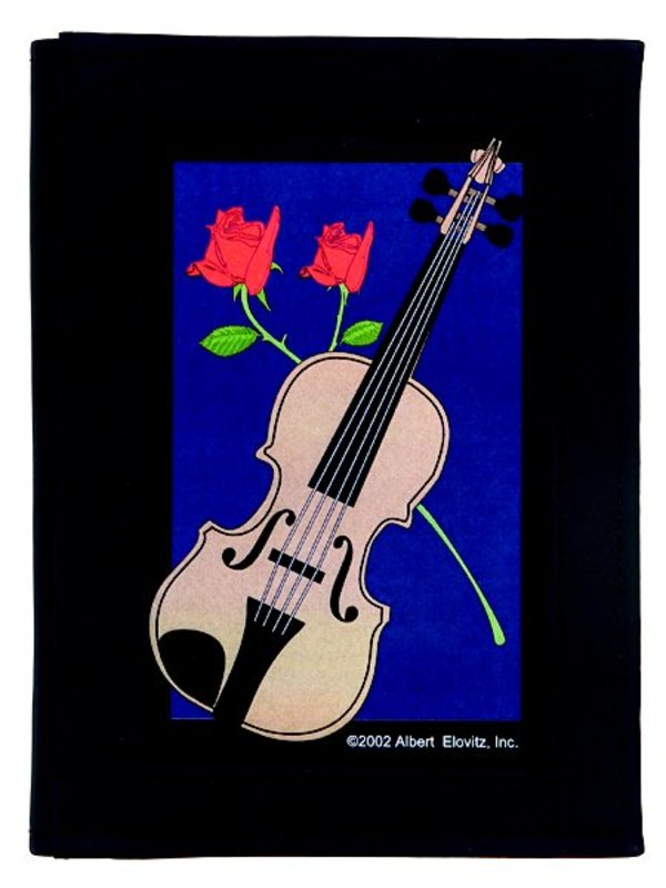 ADDRESS BOOK VIOLIN ROSE