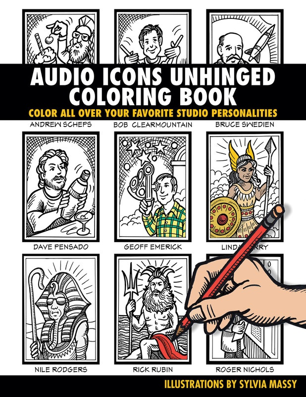 AUDIO ICONS UNHINGED COLORING BOOK