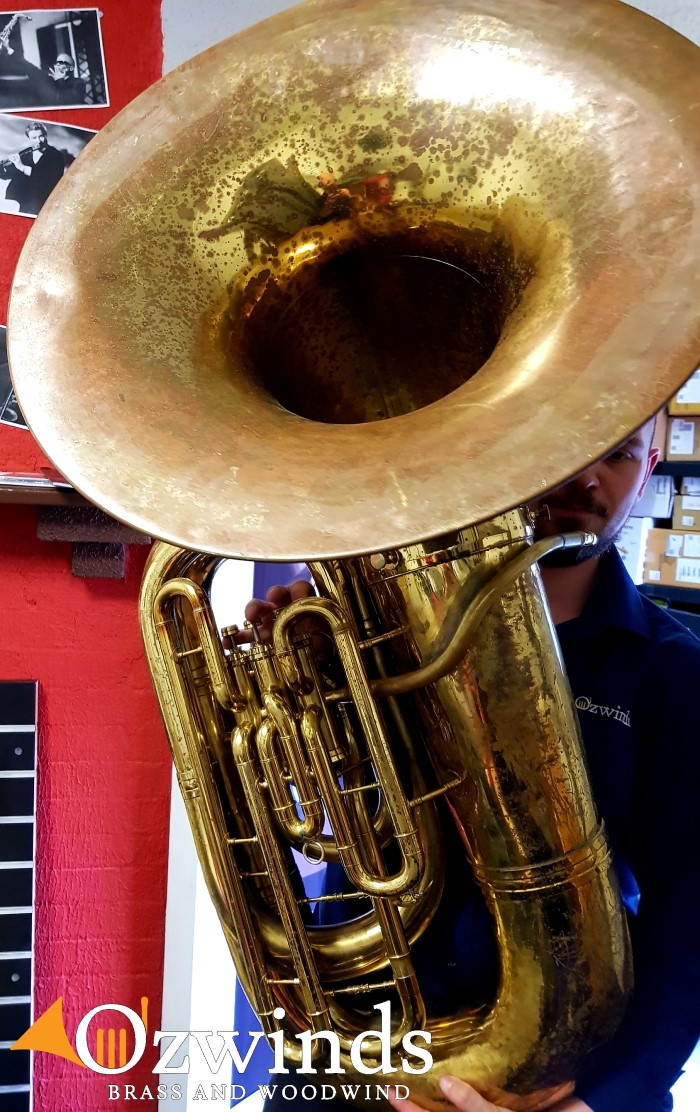 Conn 20J forward facing bell BBb Bass Tuba