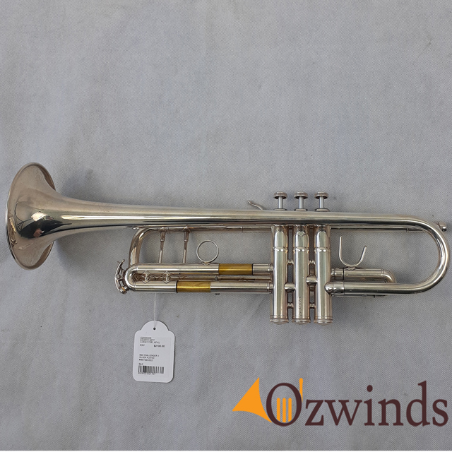 B&S Challenger II Silver Plated Pro Trumpet (USED) #084728