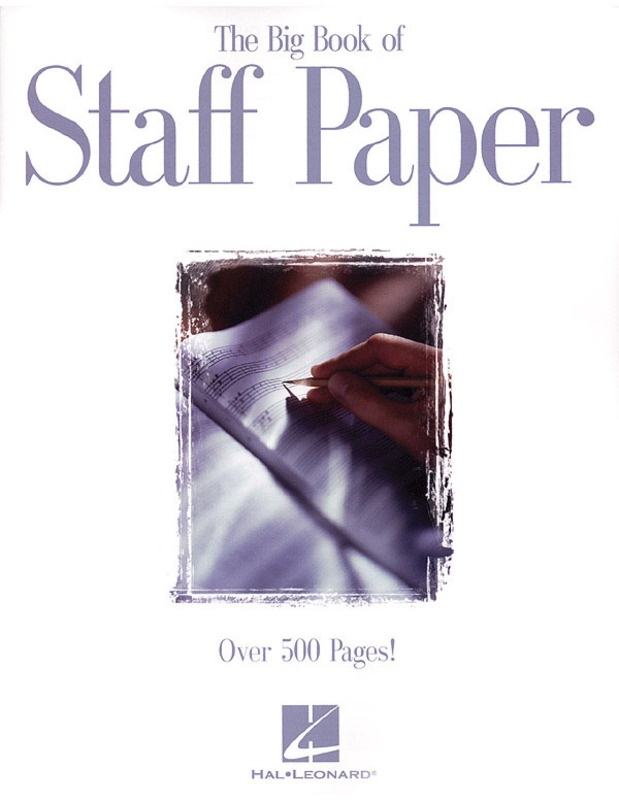 BIG BOOK OF STAFF PAPER 12ST 512PG