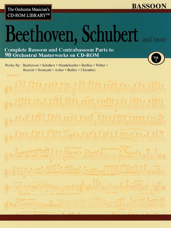 BEETHOVEN SCHUBERT CD ROM LIB BASSOON V1