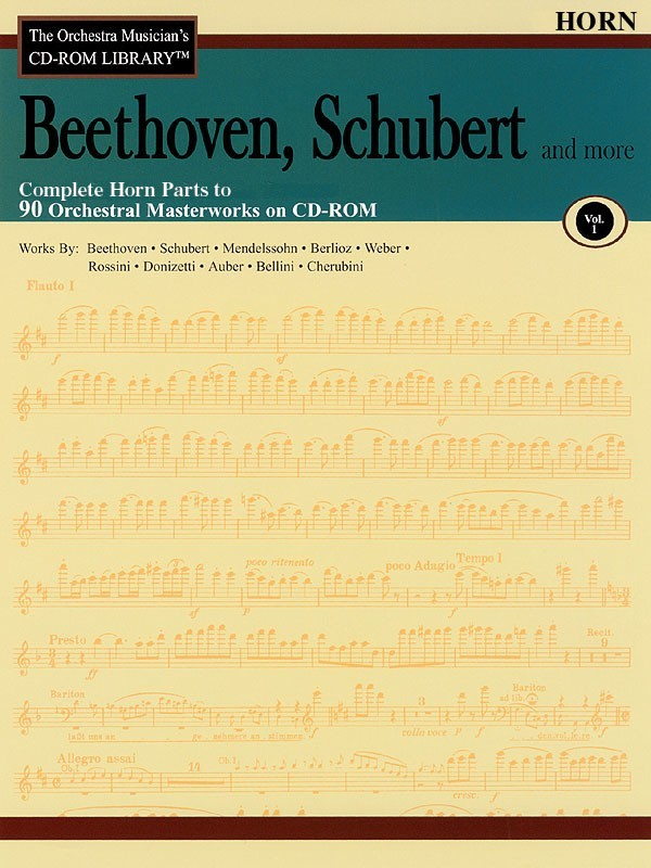 BEETHOVEN SCHUBERT CD ROM LIB FHN V1