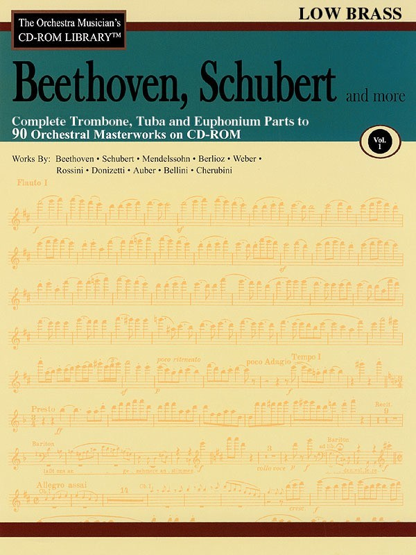 BEETHOVEN SCHUBERT CD ROM LIB LOW BRASS V1