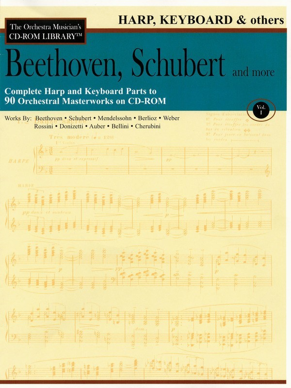BEETHOVEN SCHUBERT CD ROM LIB HARP KBD OTHER VL1