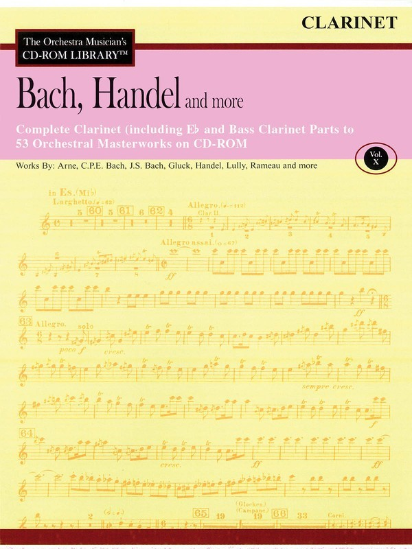 BACH HANDEL & MORE CLARINET CD ROM LIB V10
