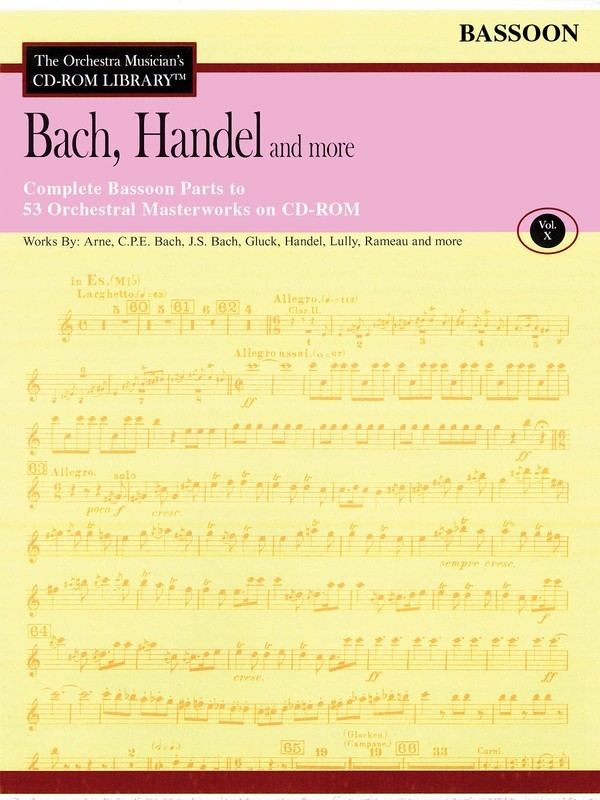 BACH HANDEL & MORE BASSOON CD ROM LIB V10