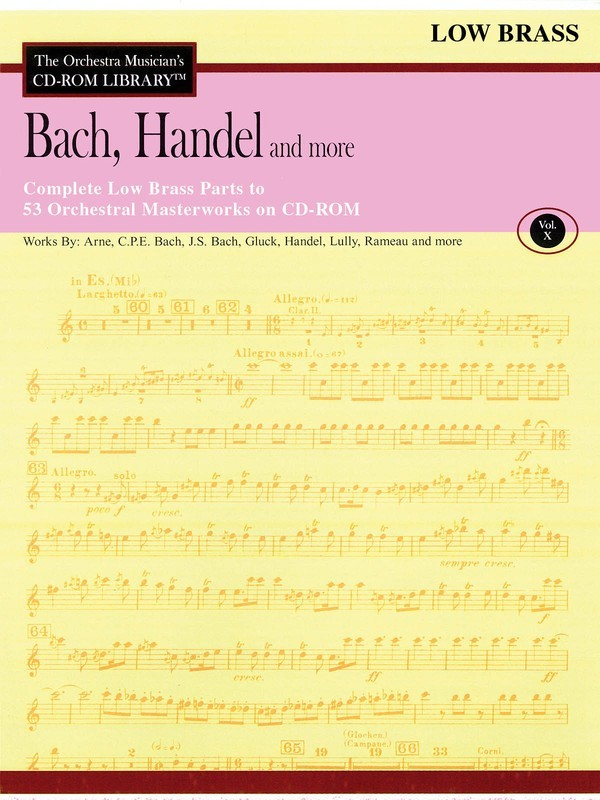 BACH HANDEL & MORE LOW BRASS CD ROM LIB V10