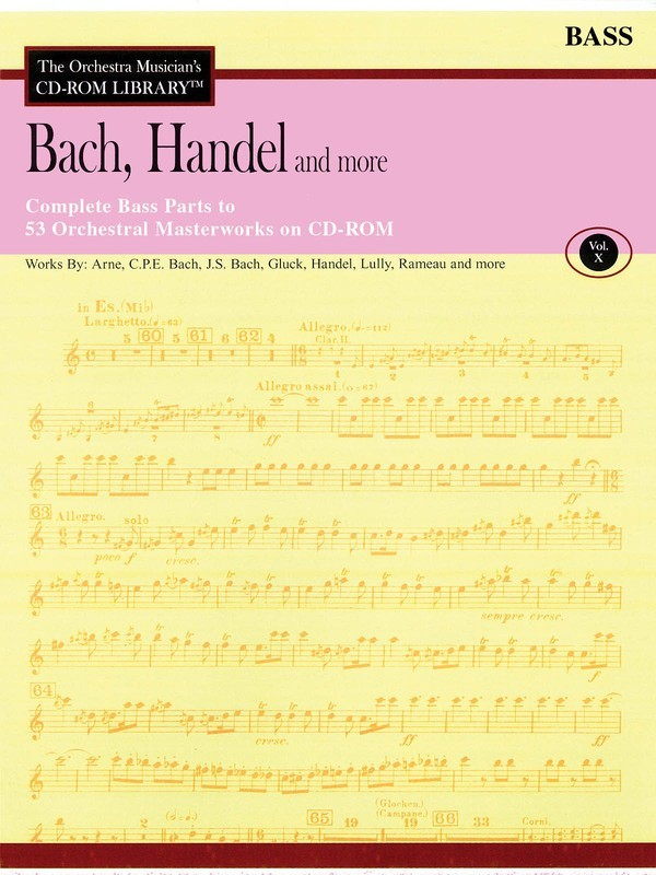 BACH HANDEL & MORE DOUBLE BASS CD ROM LIB V10