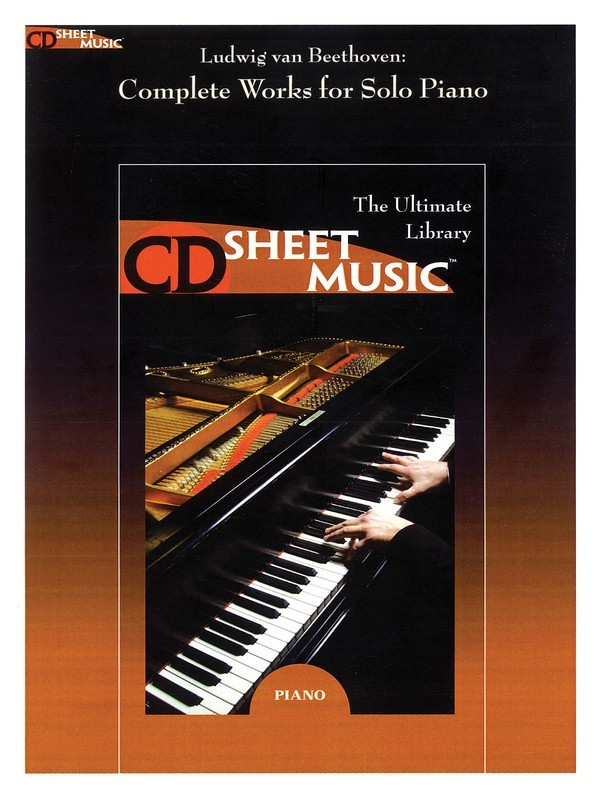 BEETHOVEN COMPLETE WORKS FOR SOLO PIANO CD SHEET