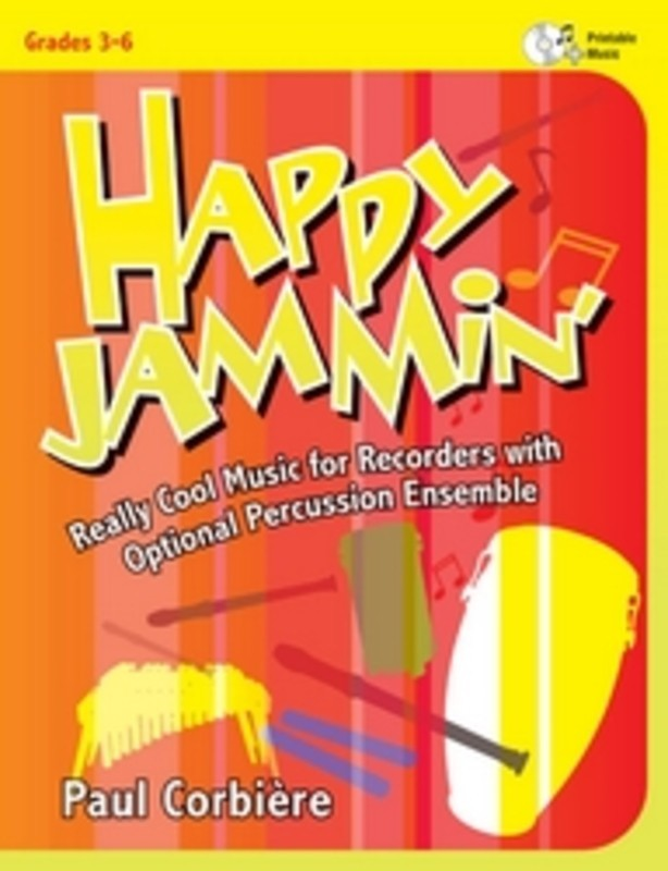 HAPPY JAMMIN RECORDERS WITH OPT PERC ENS BK/CD