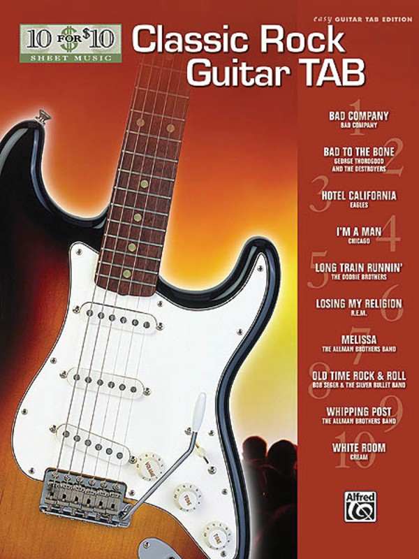 10 FOR 10 CLASSIC ROCK GUITAR TAB