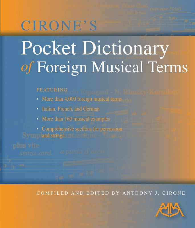 POCKET DICTIONARY OF FOREIGN MUSICAL TERMS