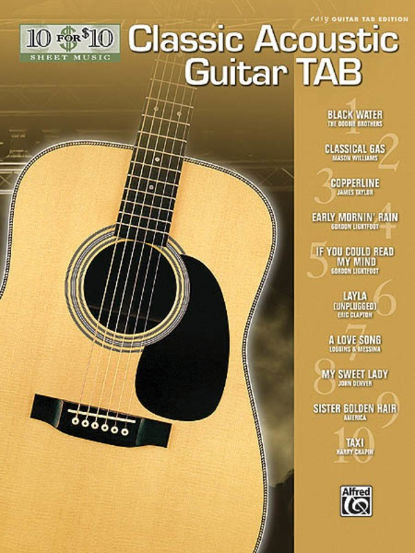 10 FOR 10 CLASSIC ACOUSTIC GUITAR TAB