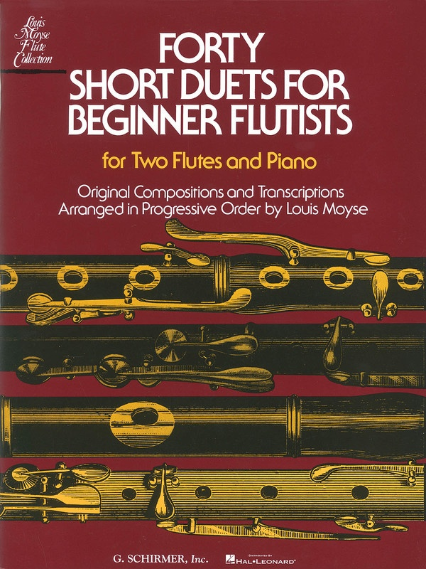 40 SHORT DUETS FOR BEGINNER FLUTISTS 2 FLUTES/PIANO