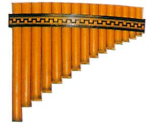 Panpipes Roumaines Curved 15 note. Key of C (G-G)