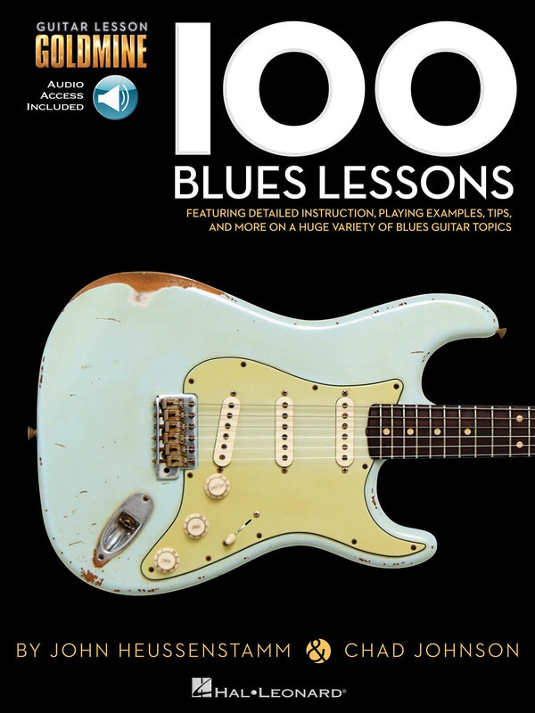 100 BLUES LESSONS GUITAR GOLDMINE BK/OLA