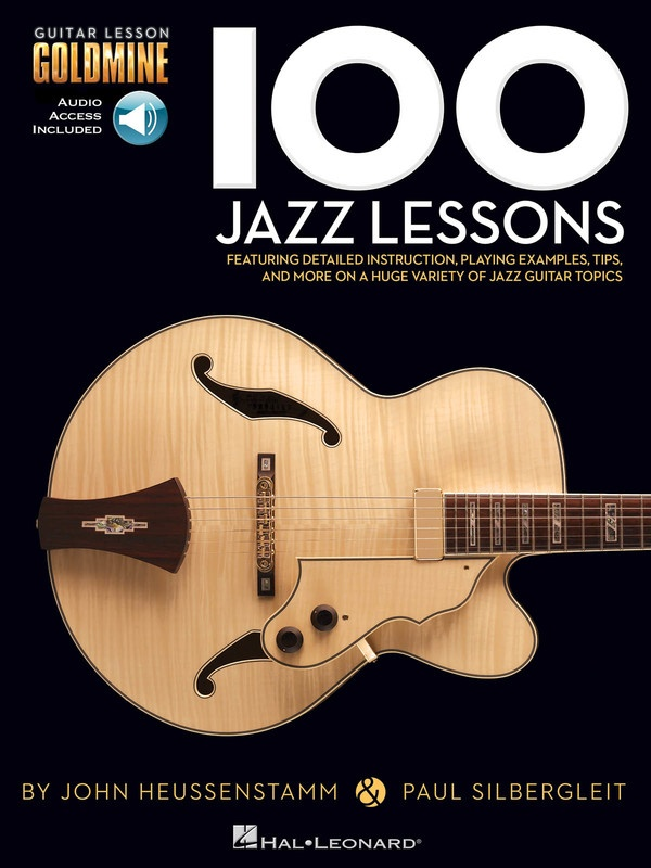 100 JAZZ GUITAR LESSONS GOLDMINE SERIES BK/OLA