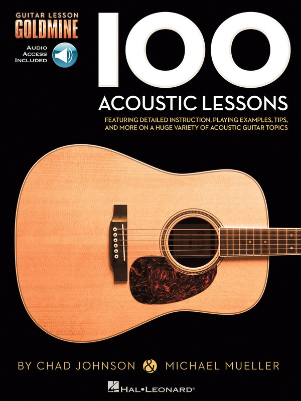 100 ACOUSTIC LESSONS GUITAR GOLDMINE BK/OLA