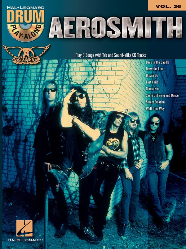AEROSMITH DRUM PLAY ALONG BK/CD V26
