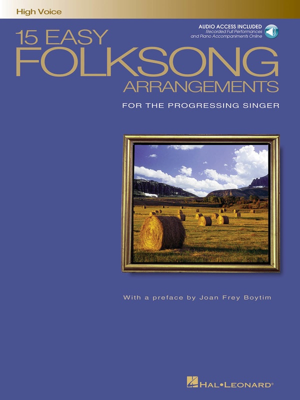 15 EASY FOLKSONG ARRANGEMENTS BK/CD HIGH