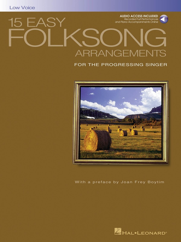 15 EASY FOLKSONG ARRANGEMENTS BK/CD LOW