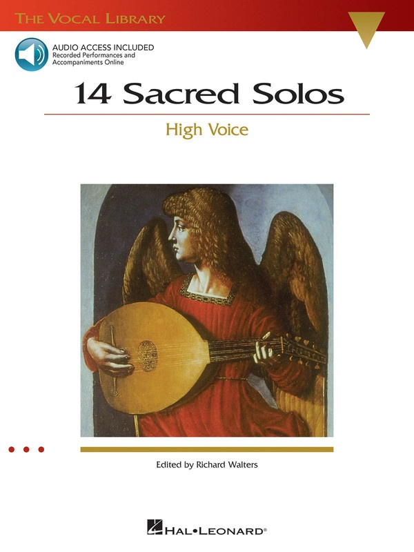 14 SACRED SOLOS BK/OLA HIGH VOICE