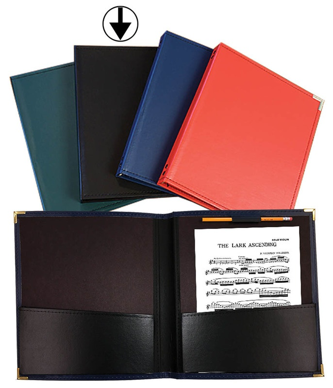 BAND FOLDER 12X14 BLACK WITH PENCIL LOOP