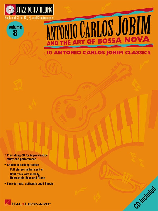 ANTONIO CARLOS JOBIM JAZZ PLAY ALONG V8 BK/CD