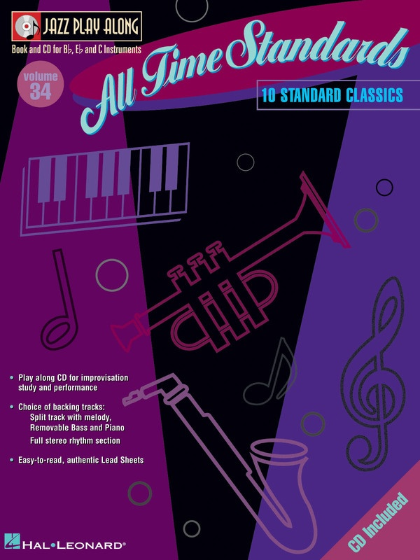 ALL TIME STANDARDS JAZZ PLAY ALONG BK/CD V34