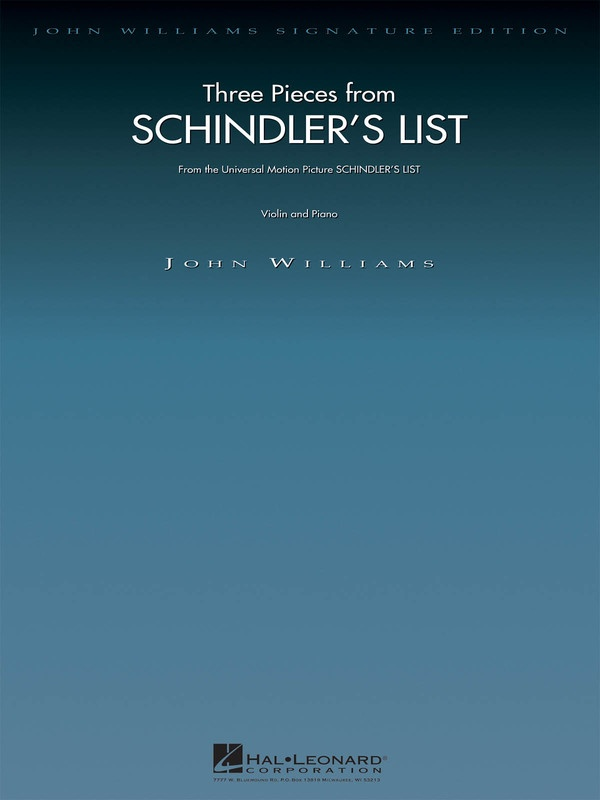 3 PIECES FROM SCHINDLERS LIST VIOLIN/PIANO
