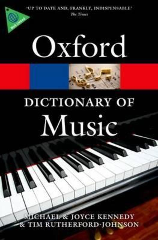 OXFORD DICTIONARY OF MUSIC 6TH ED PAPERBACK