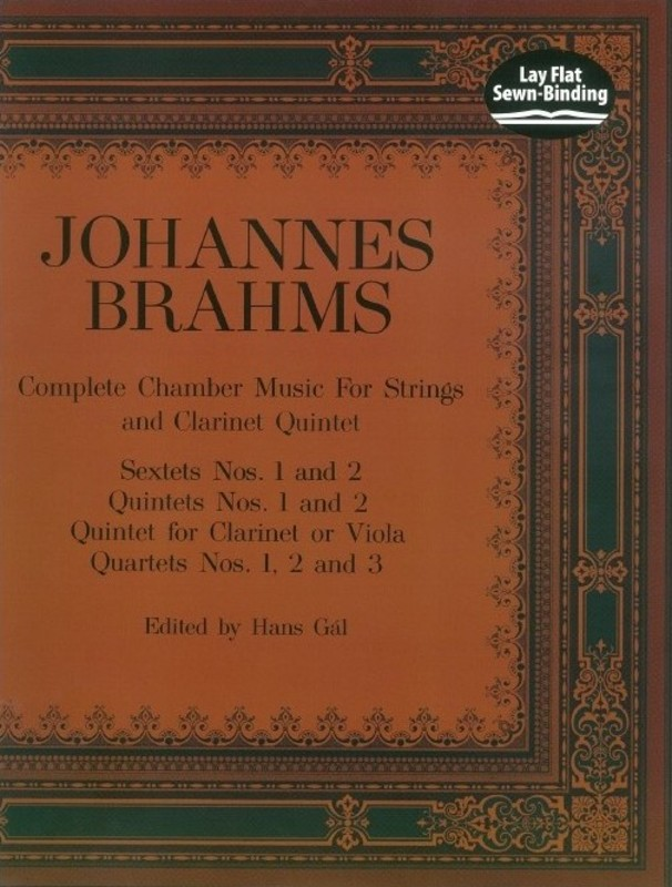 BRAHMS - COMP CHAMBER MUSIC STRINGS FULL SCORE
