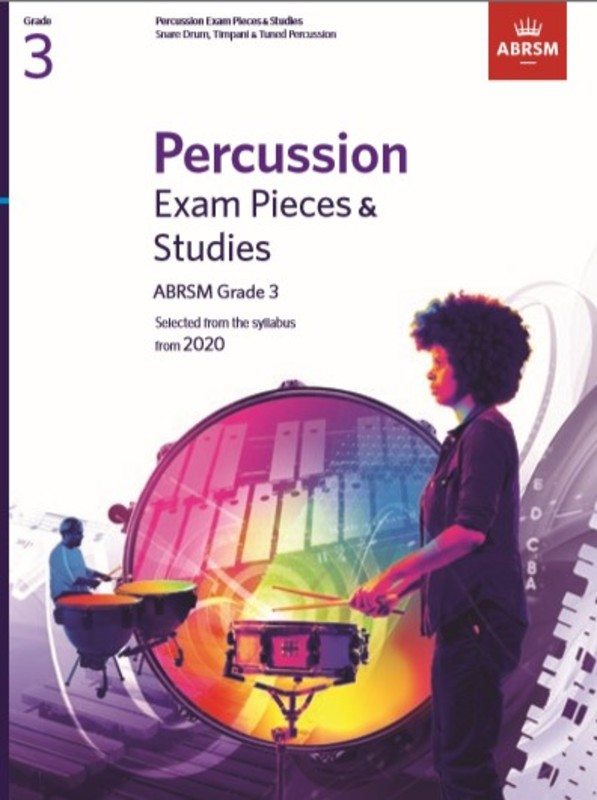 ABRSM PERCUSSION EXAM PIECES & STUDIES GR 3