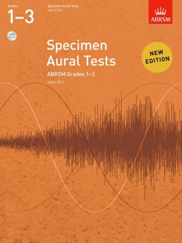 ABRSM SPECIMEN AURAL TESTS GR 1-3 BK/CD FROM 2011
