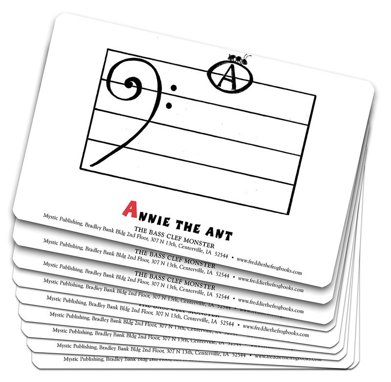 BASS CLEF MONSTER FLASH CARD SET