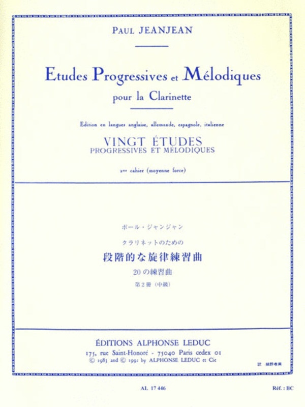 20 Easy Progressive And Melodic Studies Vol 2 Cla