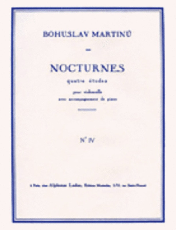 4 NOCTURNES NO 4 H189 CELLO AND PIANO
